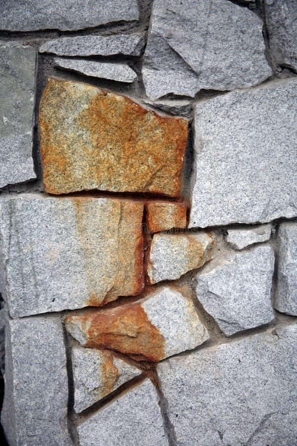 Primo piano della parete della roccia fotografie stock libere da diritti