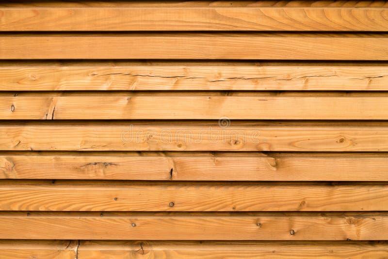 Primo piano della parete di legno della casa immagini stock libere da diritti