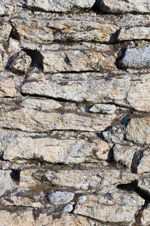Primo piano della parete di pietra fotografia stock libera da diritti