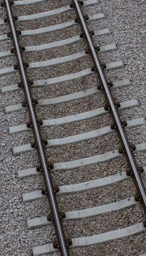 Primo piano della pista del treno immagini stock