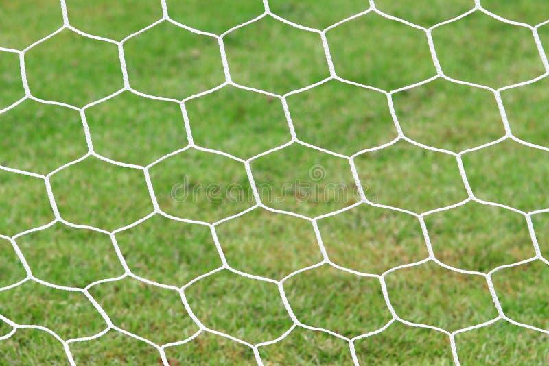 Primo piano della rete di calcio fotografia stock libera da diritti