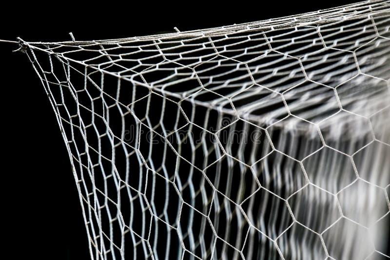 Primo piano della rete di calcio fotografia stock