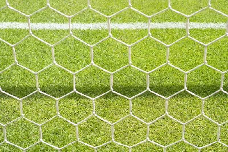 Primo piano della rete di calcio fotografie stock libere da diritti
