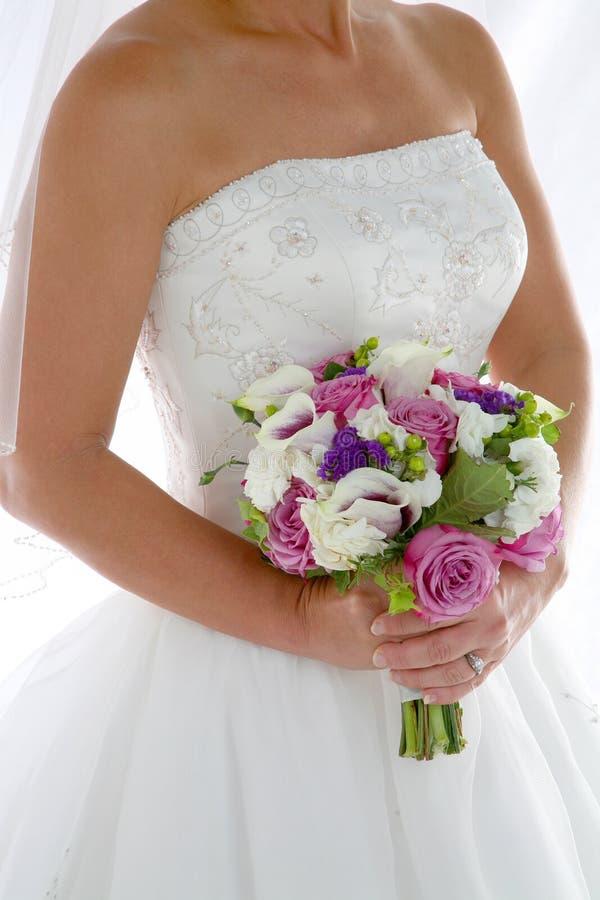 Primo piano della sposa fotografia stock
