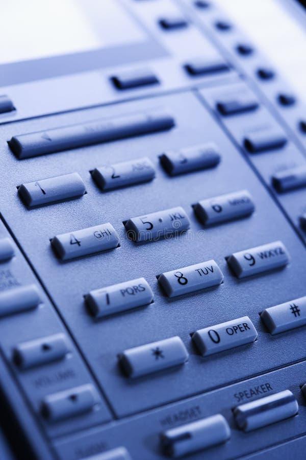 Primo piano della tastiera del telefono. fotografie stock