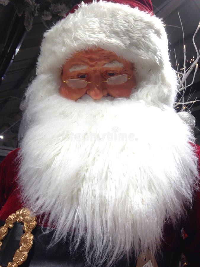 Primo piano della testa del Babbo Natale fotografia stock libera da diritti