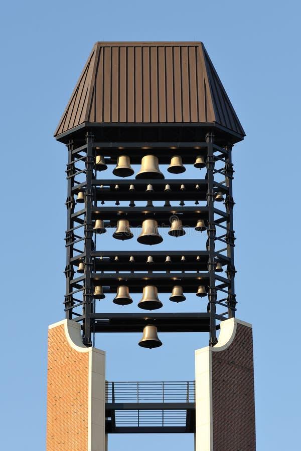 Primo piano della torretta di segnalatore acustico del carillon fotografia stock libera da diritti