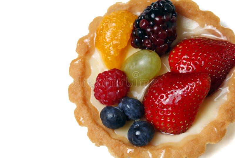 Primo piano della torta di frutta immagine stock libera da diritti