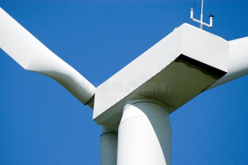 Primo piano della turbina di vento. immagine stock