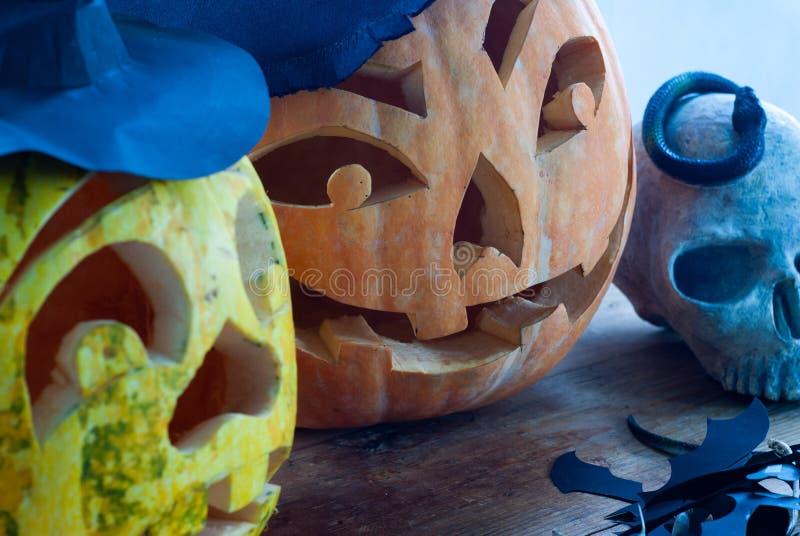 Primo piano della zucca di Halloween, immagine stock