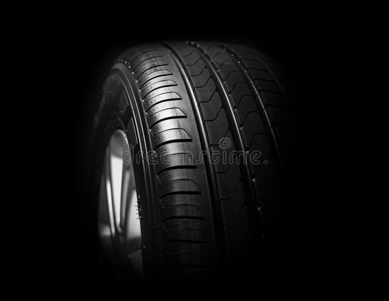 Primo piano delle gomme di automobile fotografia stock