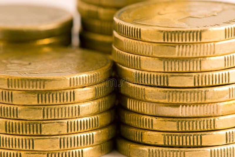 Primo piano delle monete australiane immagini stock