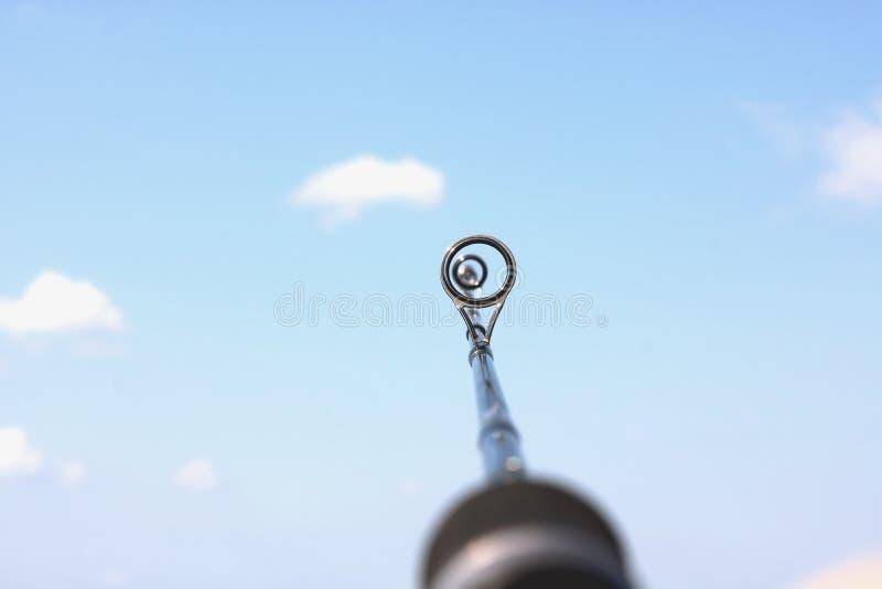 Primo piano dello sfondo naturale del onl della canna da pesca fotografie stock