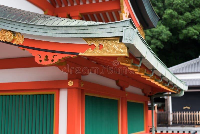 Primo piano di architettura giapponese immagini stock
