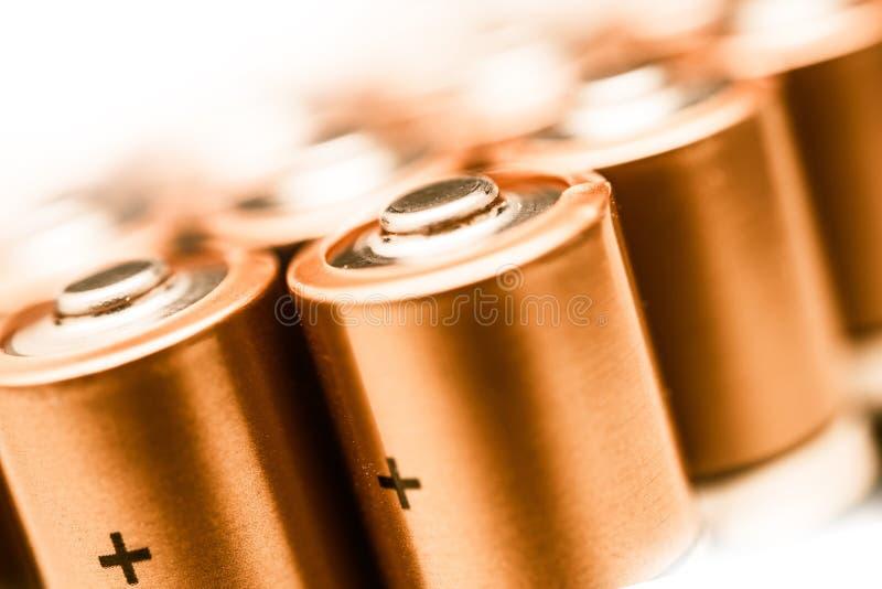 Primo piano di batterie AA immagini stock libere da diritti