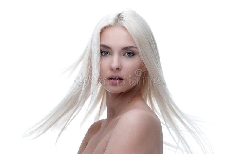 Primo piano di bella giovane donna ben curato immagini stock libere da diritti