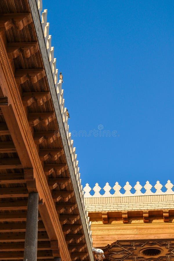 """Primo piano di Corridoio della cittadella antica nella cittadella di Buchara """"Arka """" immagini stock libere da diritti"""