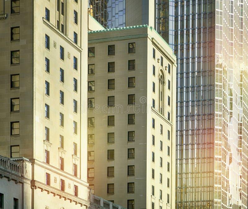 Primo piano di costruzione moderno, Toronto, Canada immagine stock