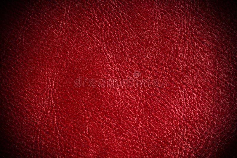 Primo piano di cuoio strutturato rosso del fondo di lerciume fotografie stock libere da diritti