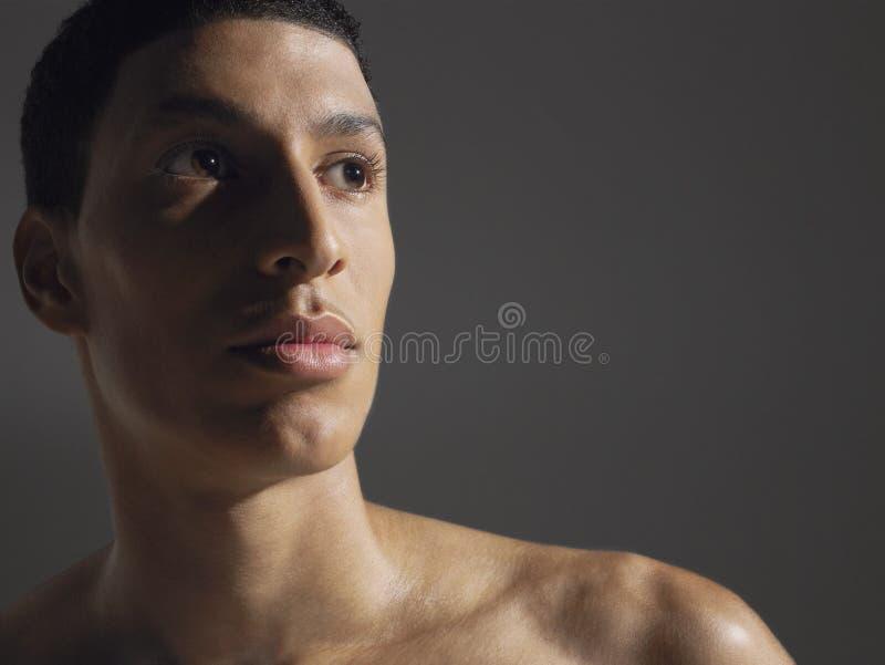 Primo piano di giovane atleta maschio immagine stock libera da diritti