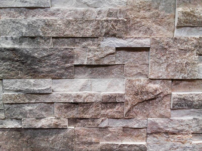 Primo piano di interior design di taglio delle strisce di pietra fotografia stock libera da diritti
