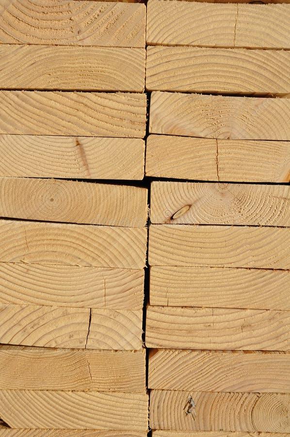 Primo piano di legname impilato fotografia stock