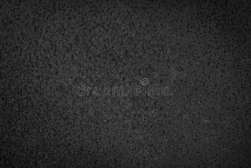 Primo piano di struttura nera del fondo di lerciume della ruggine del metallo Struttura arrugginita, vecchia, d'annata, retro del immagine stock