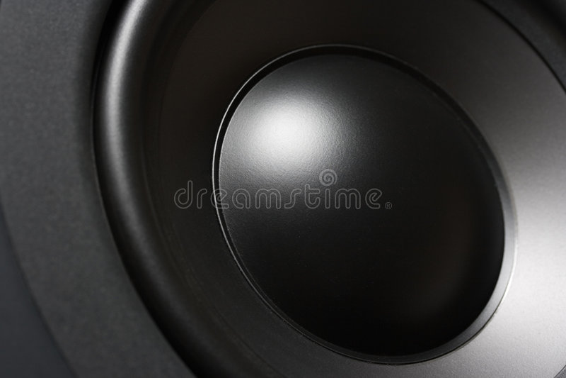Primo piano di Subwoofer immagini stock
