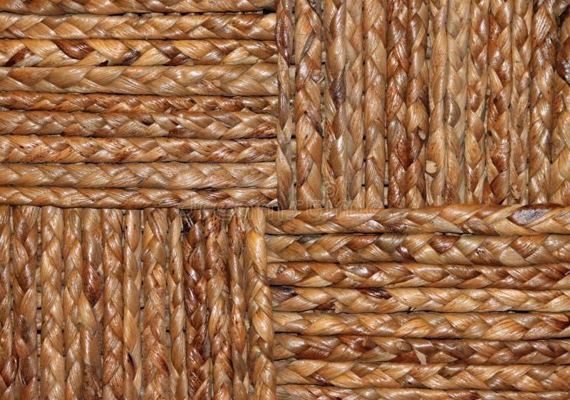 Primo piano di un canestro tessuto Brown fotografia stock