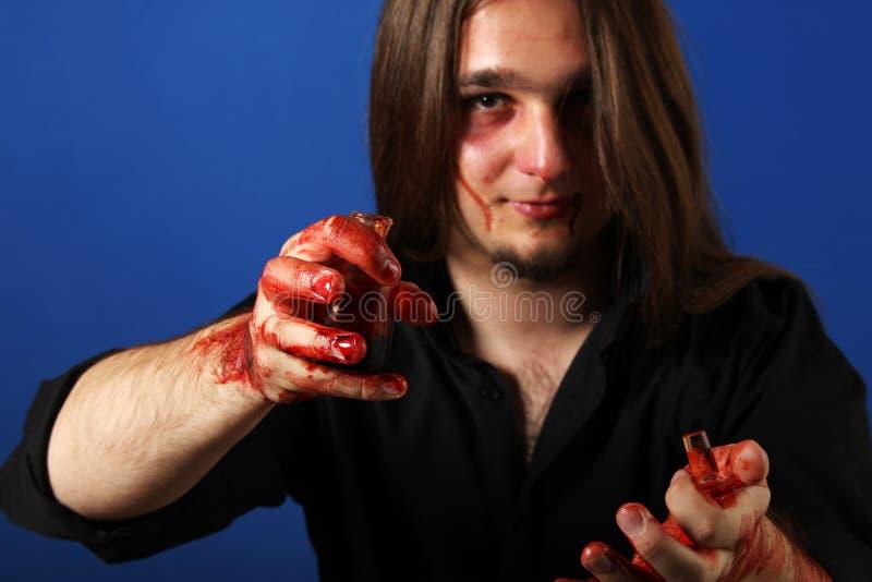 Primo piano di un uomo morto spaventoso fotografia stock libera da diritti