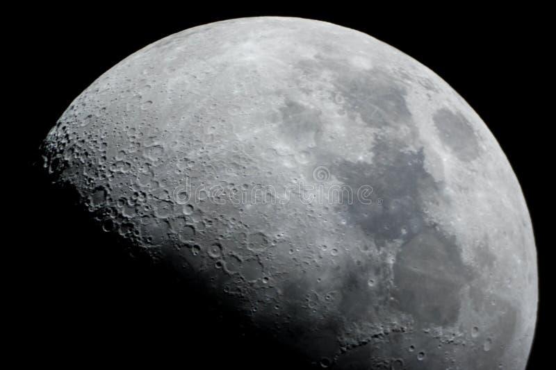 Primo piano di una luna mezza immagini stock libere da diritti