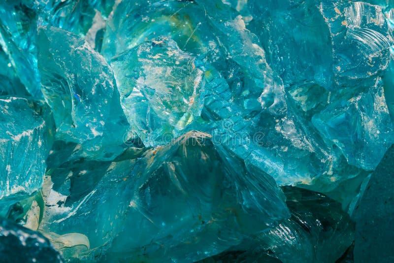 Primo piano di vetro blu fotografia stock