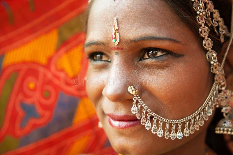 Primo piano indiano tradizionale della donna fotografia stock libera da diritti