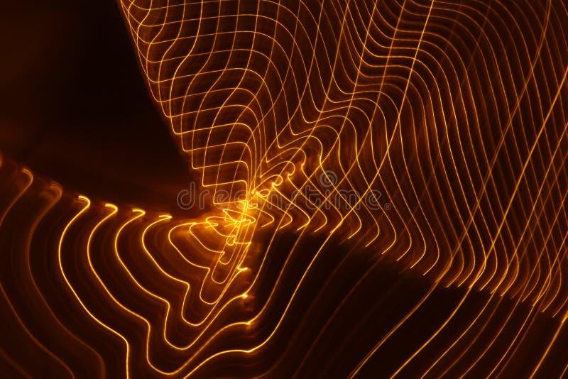 Primo piano lento astratto delle luci dell'otturatore fotografia stock