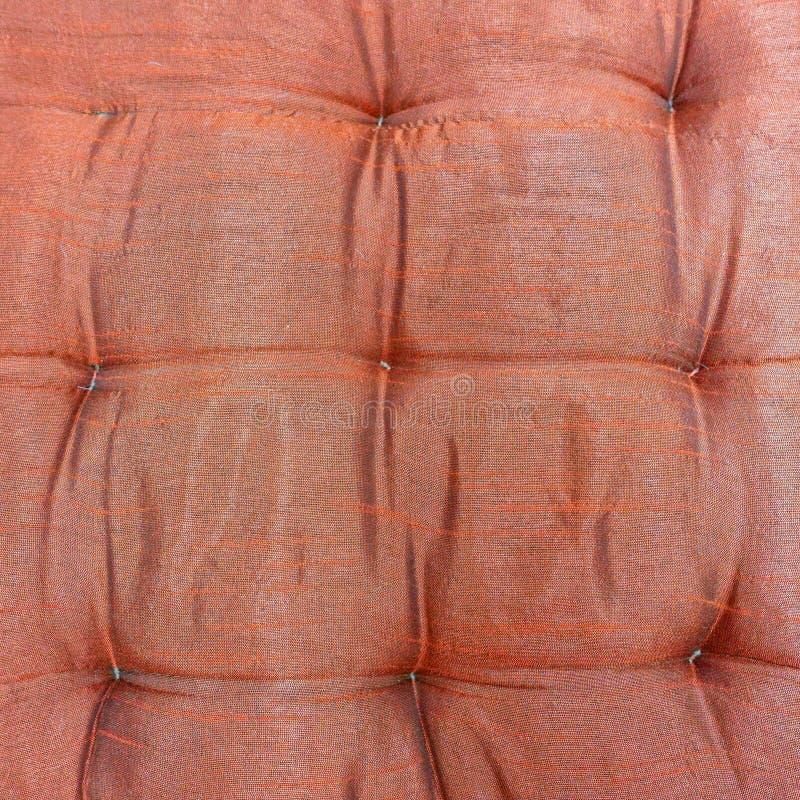 Primo piano molle a quadretti del tessuto del saumon immagine stock