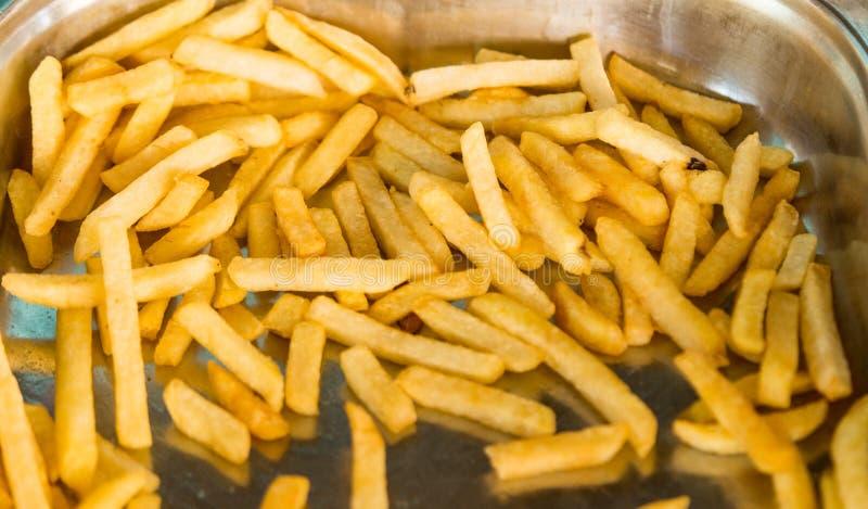 Primo piano naturale fritto degli alimenti delle patate fotografia stock libera da diritti