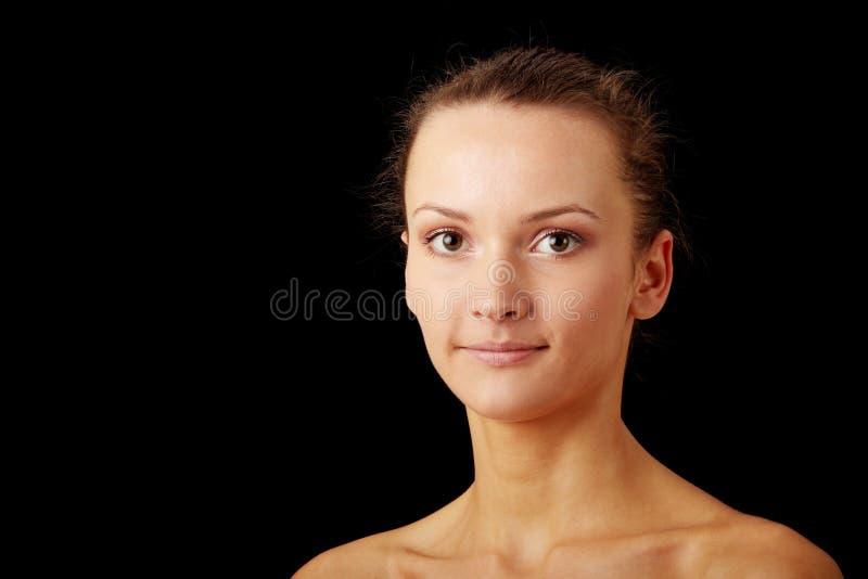 Primo piano, ritratto di bella donna fotografie stock libere da diritti