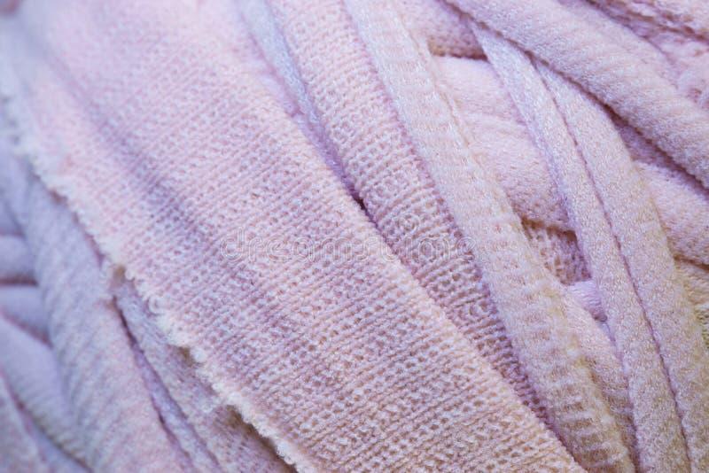 Primo piano rosa del tessuto fotografia stock