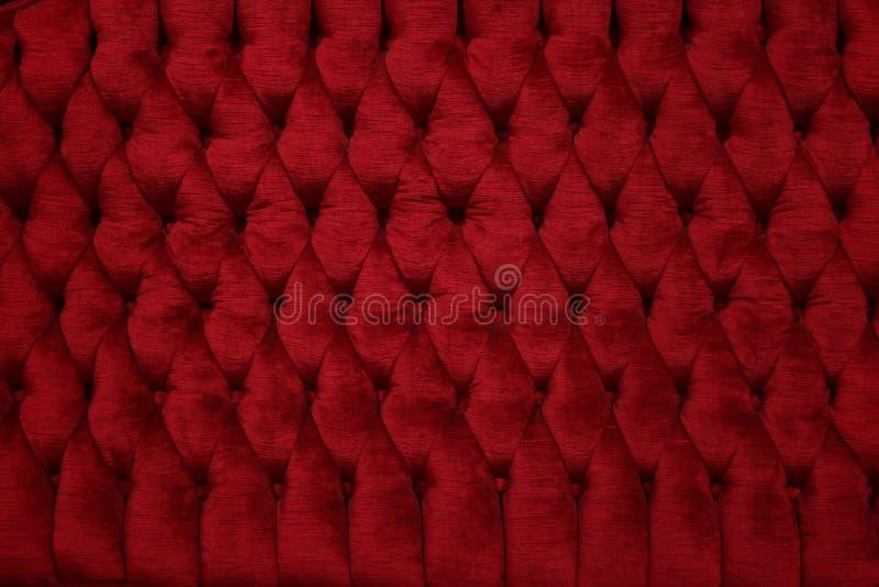 Primo piano rosso d'annata dello strato del velluto fotografie stock