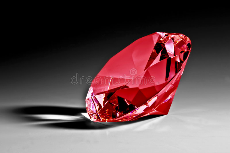 Primo piano rosso del diamante fotografie stock libere da diritti
