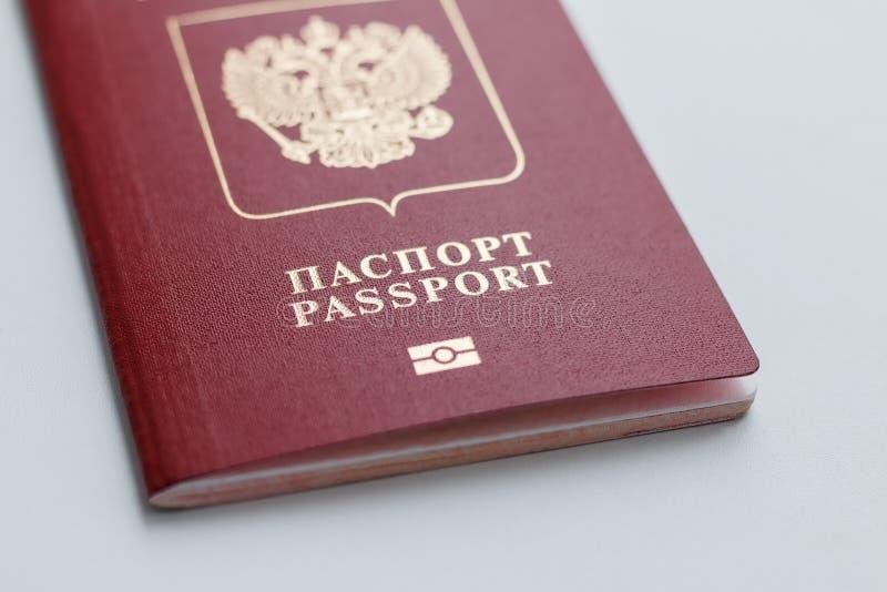 Primo piano russo internazionale del passaporto fotografia stock libera da diritti