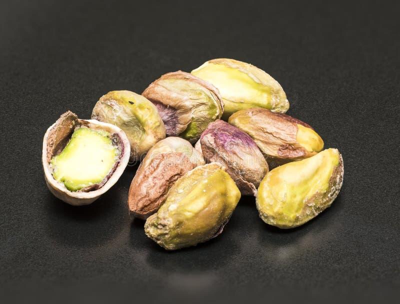 Primo piano salato del pistacchio immagine stock