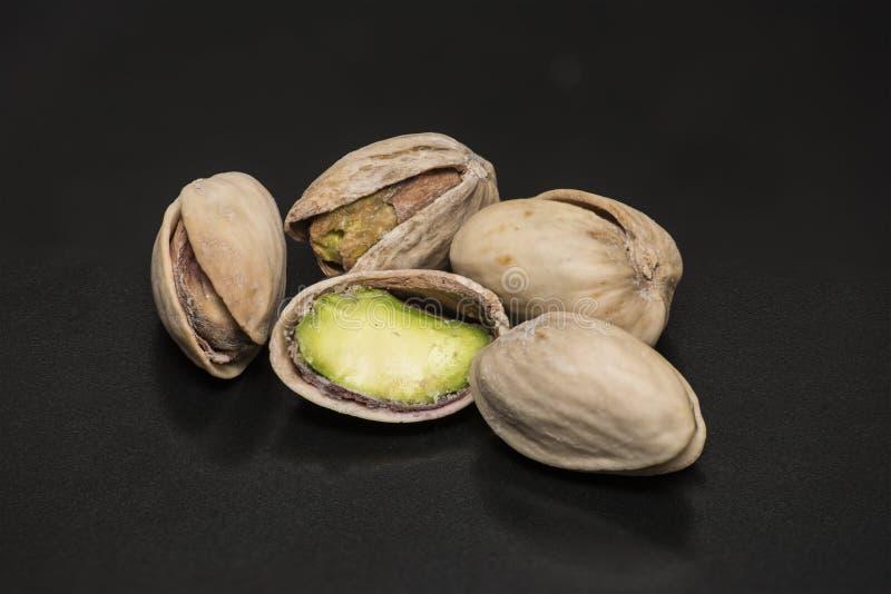Primo piano salato del pistacchio fotografia stock libera da diritti