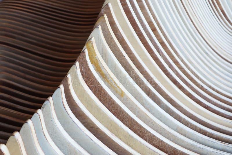 Primo piano sul modello di parallelo di ripetizione delle strisce di legno fotografia stock