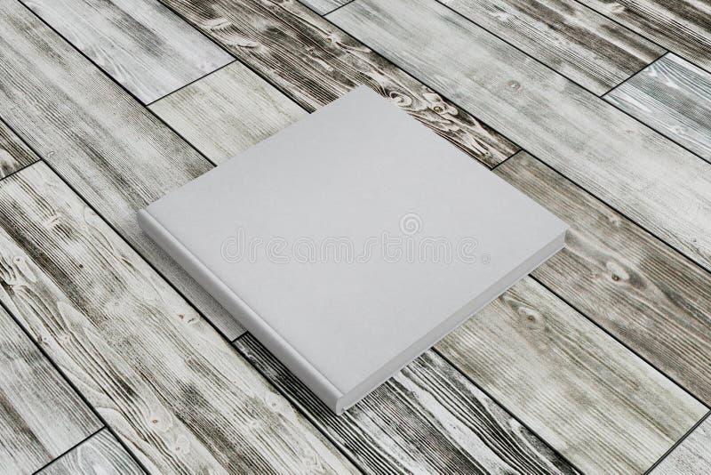 Primo piano vuoto del libro bianco fotografia stock libera da diritti