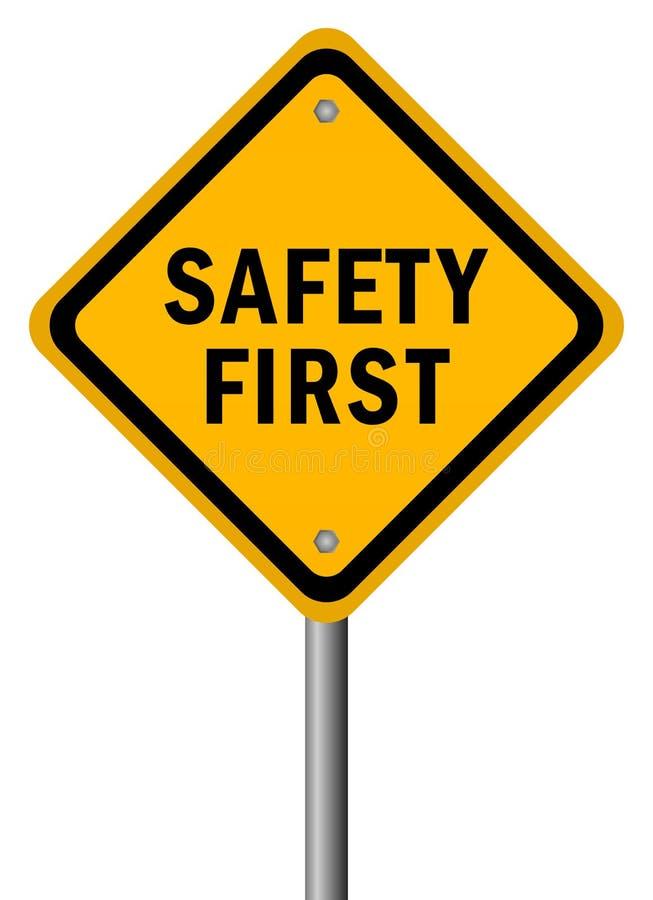 Primo segno di sicurezza illustrazione vettoriale
