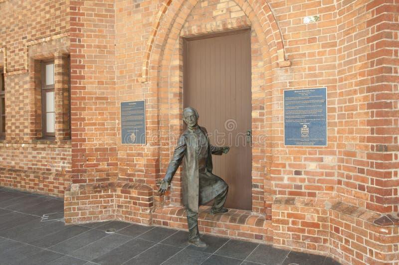 Primo vescovo della statua di Perth - Australia immagine stock libera da diritti