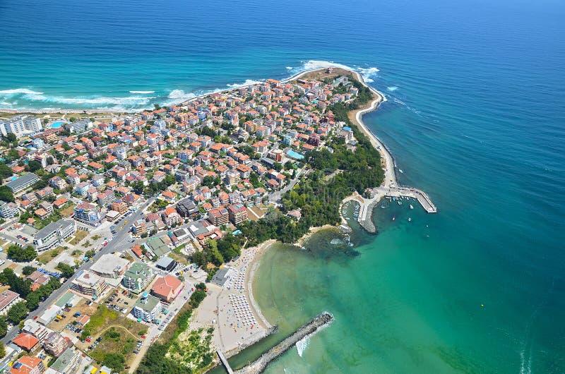 Primorskostrand, Bulgarije stock afbeelding