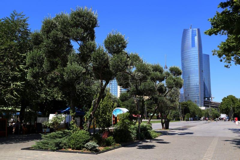 Primorsky Boulevard in Baku royalty free stock image