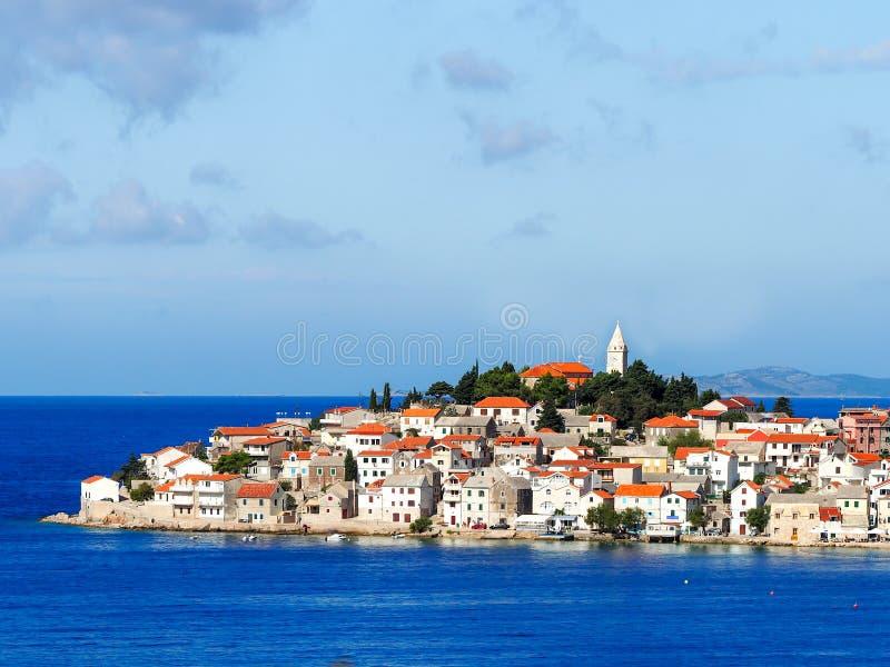 Primosten miasteczko, południowy Chorwacja zdjęcia royalty free